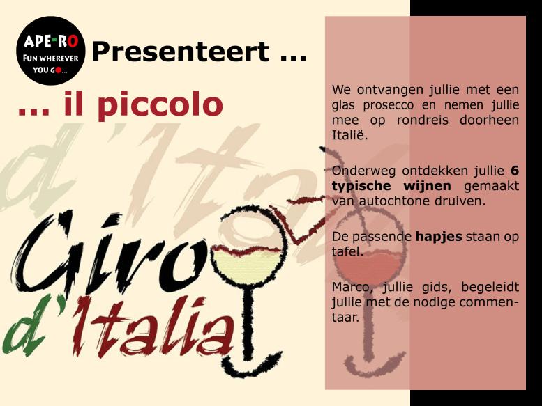 #Ape-ro mobiele bar_Italiaanse wijn1_Piccolo giro
